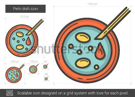 Stok fotoğraf: Yemek · hat · ikon · vektör · yalıtılmış · beyaz