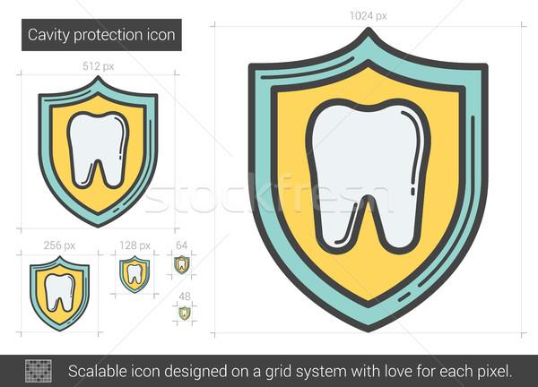 Holte bescherming lijn icon vector geïsoleerd Stockfoto © RAStudio