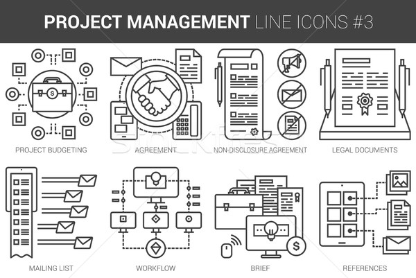 ストックフォト: プロジェクト · 管理 · 行 · インフォグラフィック · メタファー