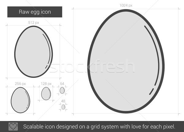 Raw egg line icon. Stock photo © RAStudio