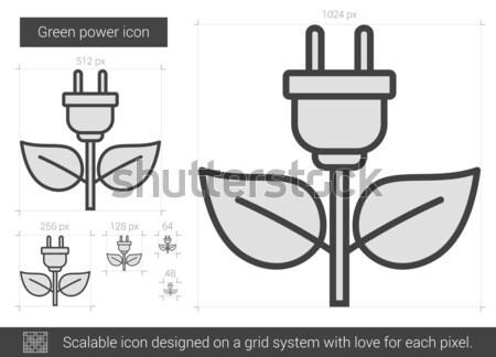 Eco green energy sketch icon. Stock photo © RAStudio