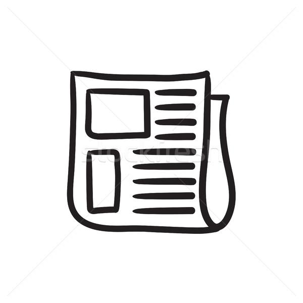 Journal croquis icône vecteur isolé dessinés à la main Photo stock © RAStudio