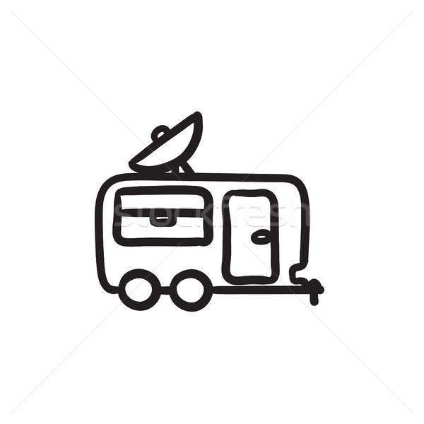 キャラバン スケッチ アイコン ベクトル 孤立した ストックフォト © RAStudio