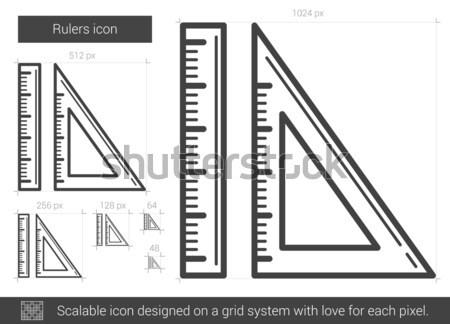 Line icona vettore isolato bianco infografica Foto d'archivio © RAStudio