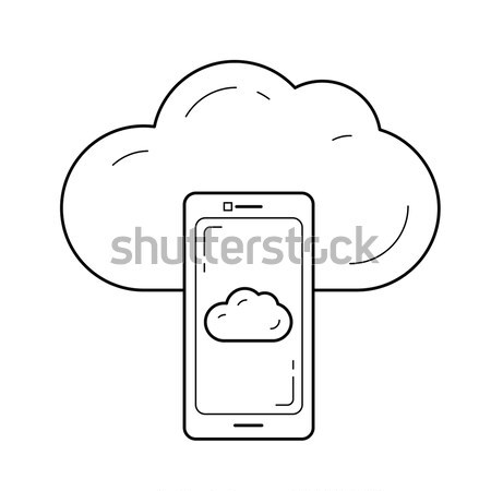 Cloud file access line icon. Stock photo © RAStudio