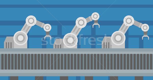 Automated robotic conveyor belt. Stock photo © RAStudio