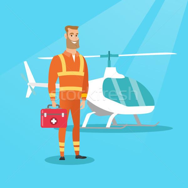 Doctor of air ambulance vector illustration. Stock photo © RAStudio