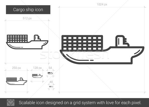 Cargo ship line icon. Stock photo © RAStudio