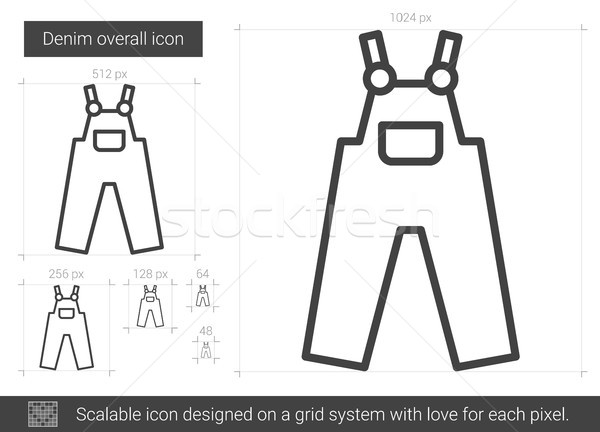 Denim overall line icon. Stock photo © RAStudio