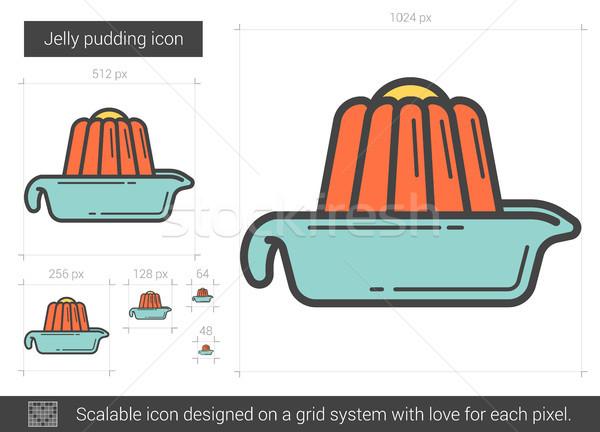 Jelly pudding line icon. Stock photo © RAStudio