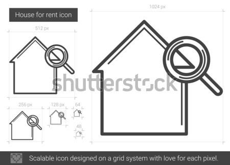 Casa affitto line icona vettore isolato Foto d'archivio © RAStudio