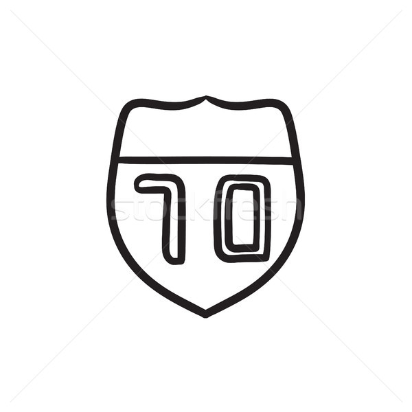 Route road sign sketch icon. Stock photo © RAStudio