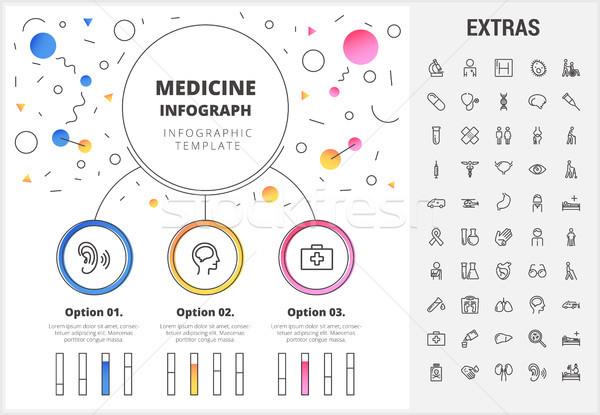 Medicine infographic template, elements and icons. Stock photo © RAStudio