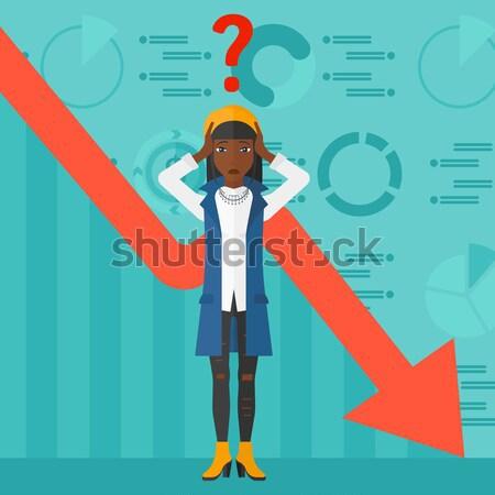 Hoofd groot vraagteken boven business Stockfoto © RAStudio