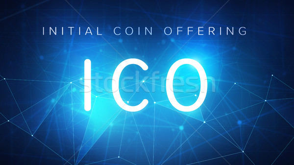 ICO initial coin offering banner. Stock photo © RAStudio