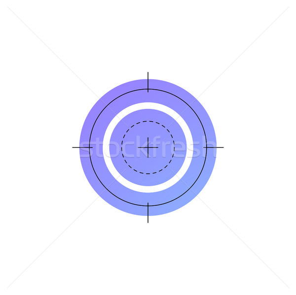 Neon shooting target vector line icon. Stock photo © RAStudio