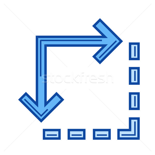 Enlarge image line icon. Stock photo © RAStudio