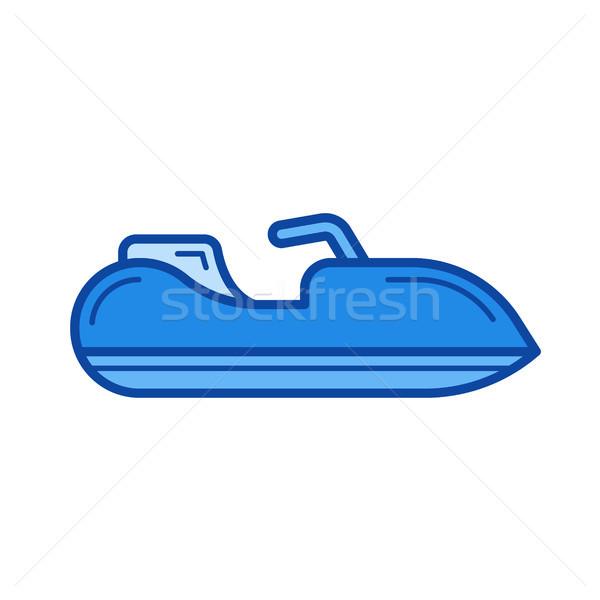 Jet ski linha ícone vetor isolado branco Foto stock © RAStudio