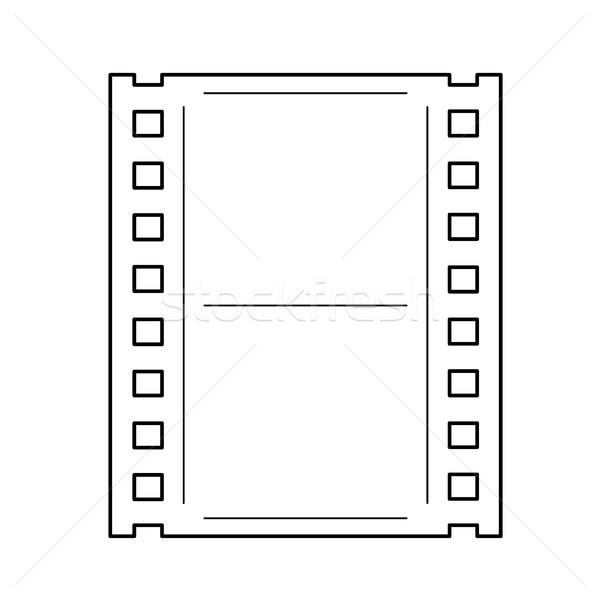 фильма кадр линия икона вектора изолированный Сток-фото © RAStudio