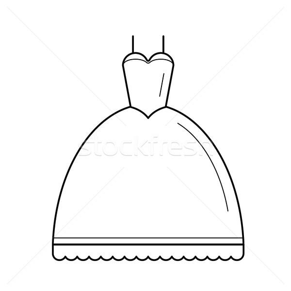 Wedding dress vector line icon. Stock photo © RAStudio