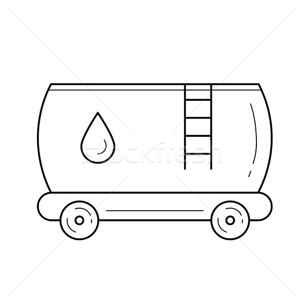 Oil tank vector line icon. Stock photo © RAStudio