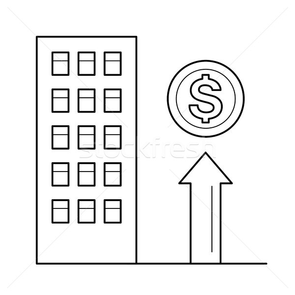 Stock photo: Real estate sale line icon.