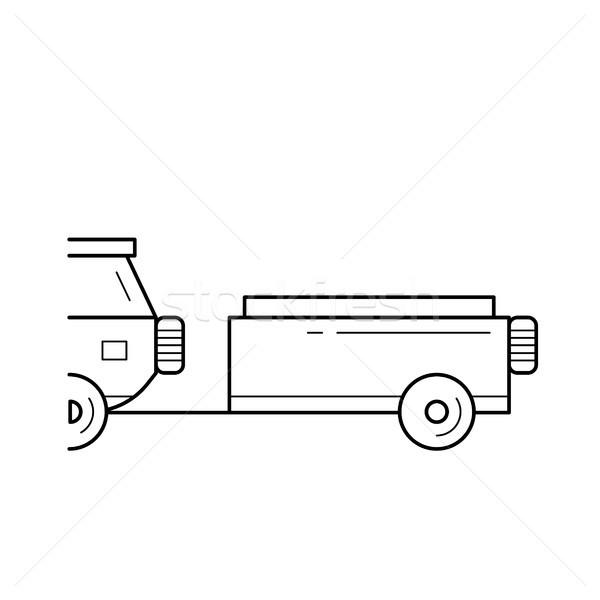 Car trailer line icon. Stock photo © RAStudio