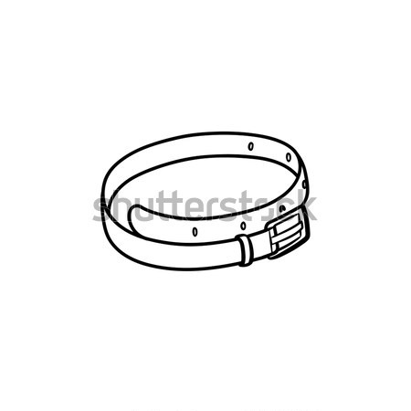 Pelle cintura sketch icona contorno Foto d'archivio © RAStudio