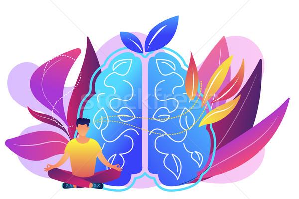 Mindfulness concept vector illustration. Stock photo © RAStudio