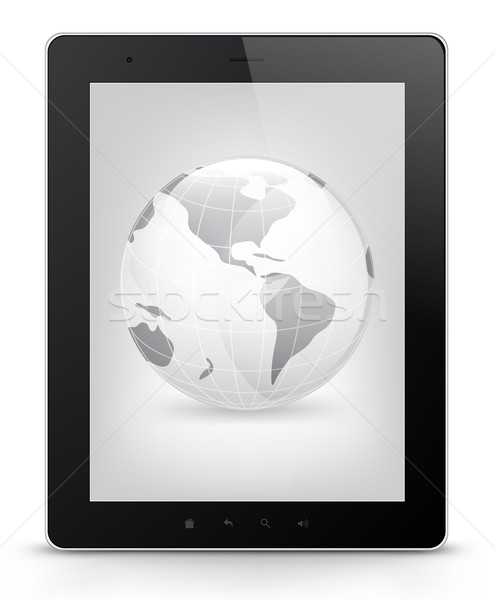 Tablet PC. Vector EPS 10. Stock photo © RAStudio