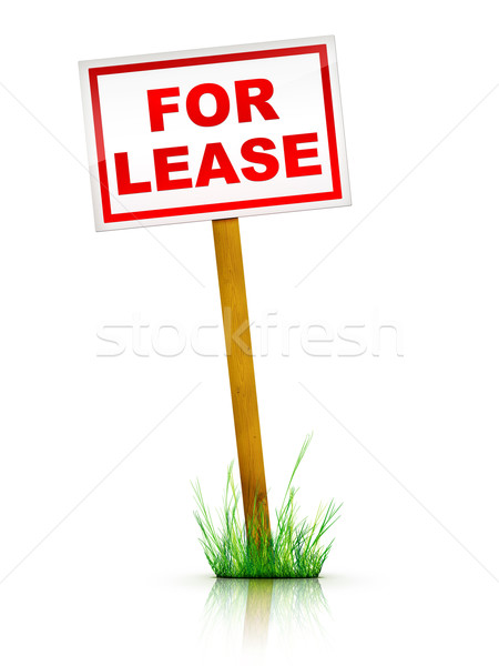 Sign - For Lease Stock photo © RAStudio