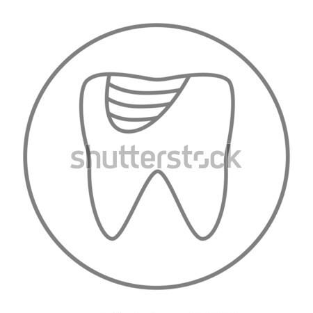 Tooth decay thin line icon Stock photo © RAStudio