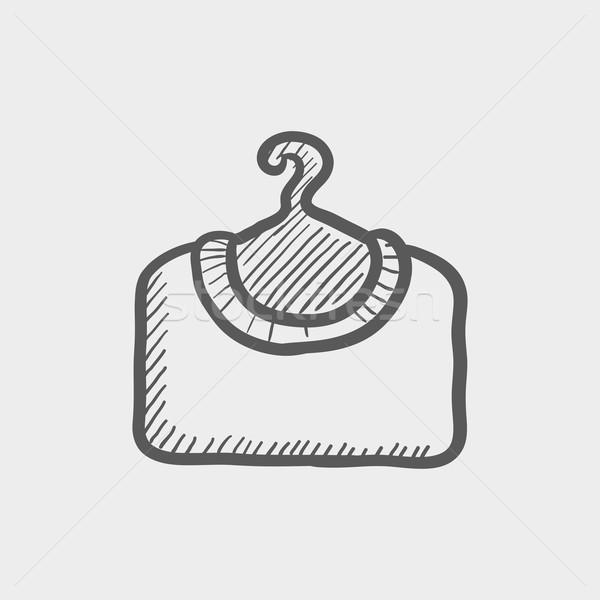 Shirt cintre croquis icône web mobiles Photo stock © RAStudio