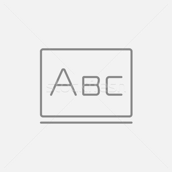 Stock photo: Letters abc on blackboard line icon.