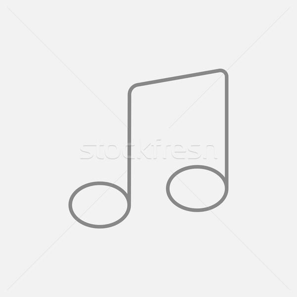 Music note line icon. Stock photo © RAStudio