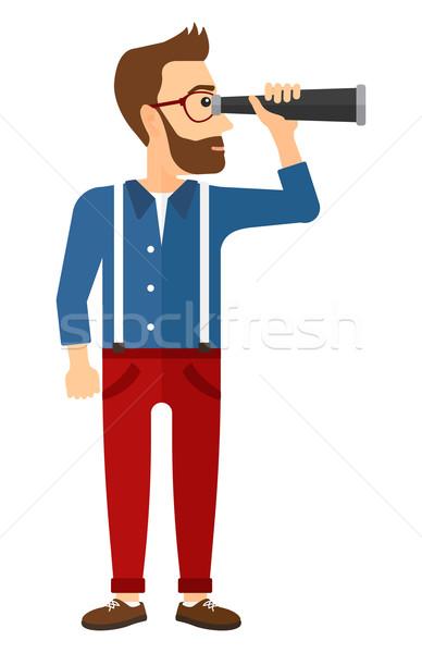 человека глядя молодые борода вектора Сток-фото © RAStudio