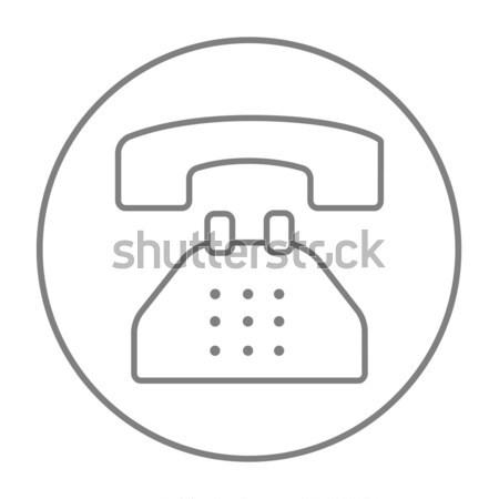 Telephone line icon. Stock photo © RAStudio