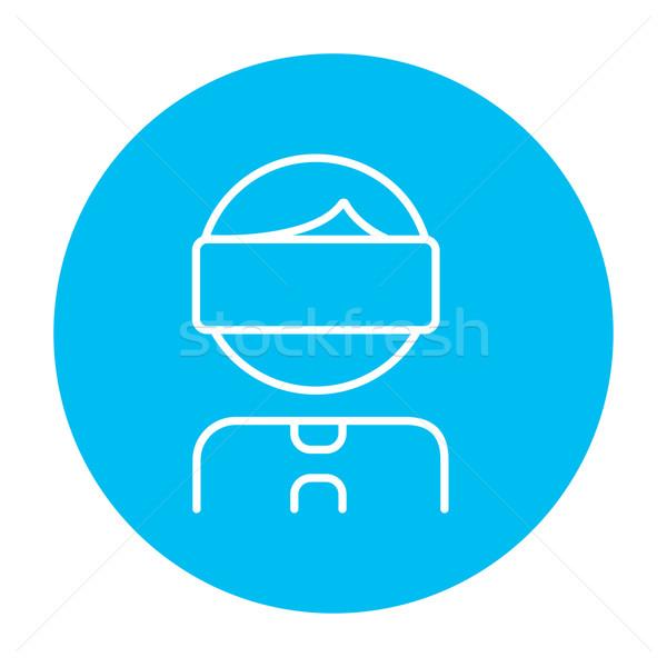 человека виртуальный реальность гарнитура линия Сток-фото © RAStudio