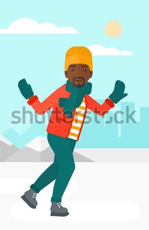 Man ice skating.  Stock photo © RAStudio