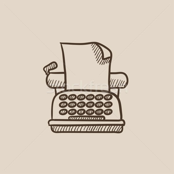Typewriter sketch icon. Stock photo © RAStudio
