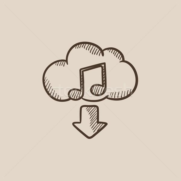 Download musica sketch icona web mobile Foto d'archivio © RAStudio