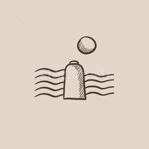 Solar energy and hydropower sketch icon. Stock photo © RAStudio
