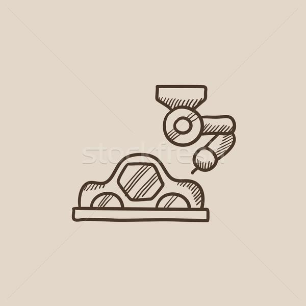 Car production sketch icon. Stock photo © RAStudio