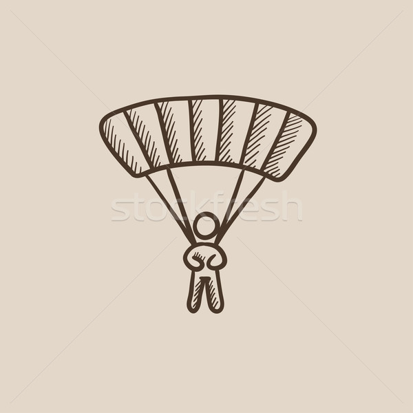 Skydiving sketch icon. Stock photo © RAStudio