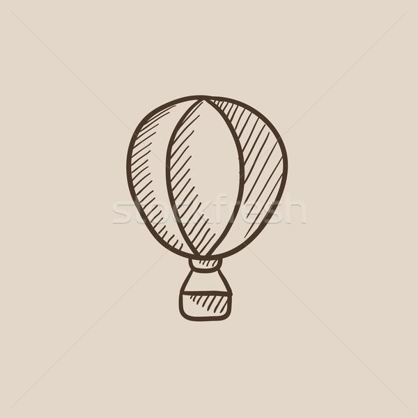 Hot air balloon sketch icon. Stock photo © RAStudio