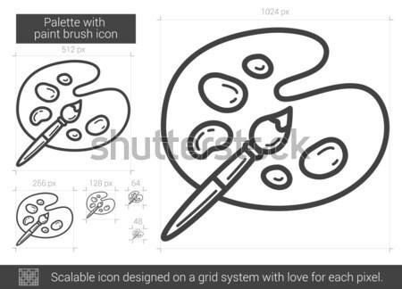 Microorganisms under magnifier. Drawn in chalk icon. Stock photo © RAStudio