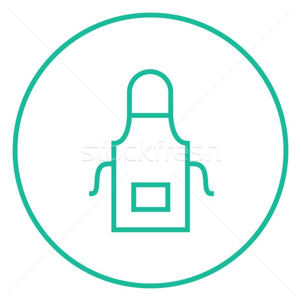Kuchnia fartuch line ikona internetowych Zdjęcia stock © RAStudio