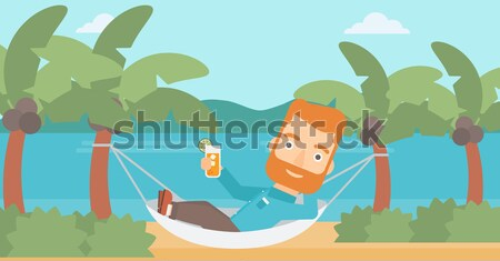 Woman chilling in hammock. Stock photo © RAStudio