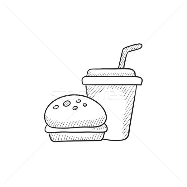 Fast food meal sketch icon. Stock photo © RAStudio