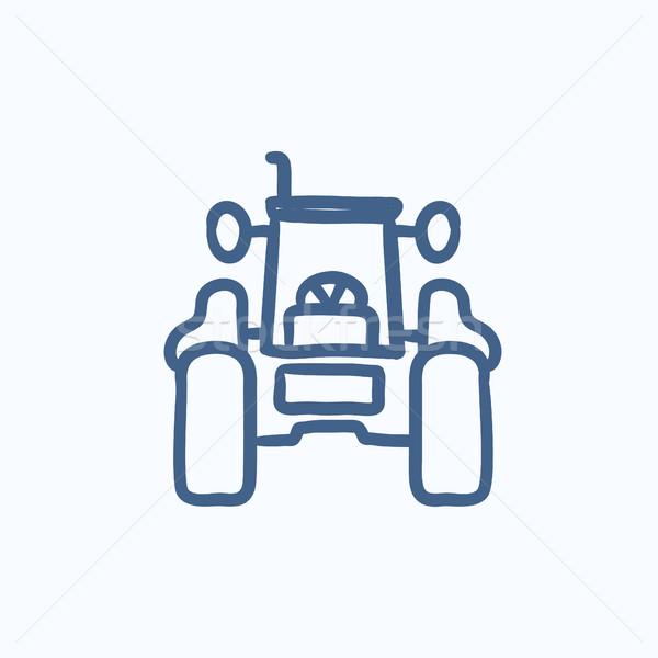 Traktor rajz ikon háló mobil infografika Stock fotó © RAStudio